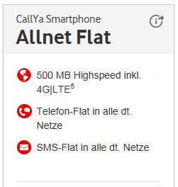 CallYa Smartphone Allnet Flat