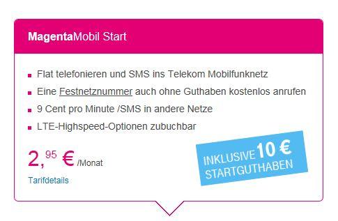 T-Mobile Magenta Mobil Start