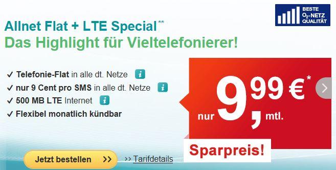 hellomobil Allnet Flat LTE Special Aktion September
