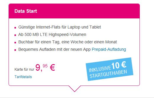 T-Mobile Data Start Flat S