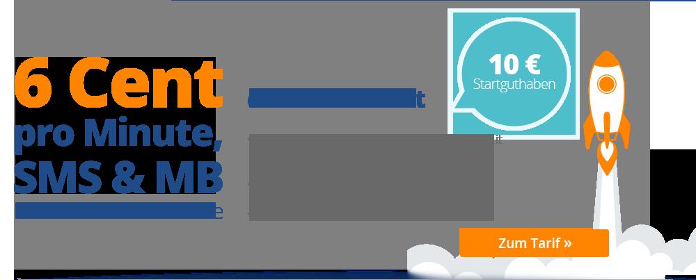 Discotel: 6 Cent Prepaid Tarif mit LTE-Highspeed