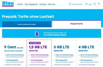 BLAU LTE Prepaid