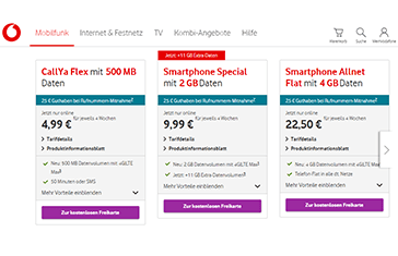 Vodafone CallYa LTE Prepaid
