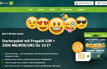 WhatsApp SIM LTE Prepaid